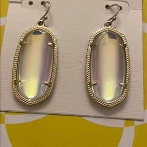 Kendra Scott Clear Iridescent Elle Earrings